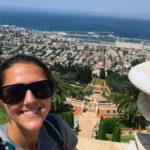 Rebecca Cohn in the Hanging Gardens of Haifa