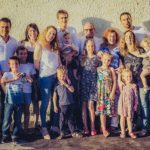 Birthright Israel Foundation CEO Izzy Tapoohi with his extended family in Israel