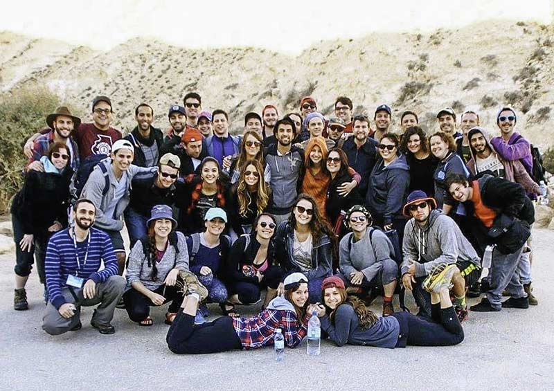 Nikki Labaschin & Joey Torres with their Birthright Israel group in the winter of 2015/16